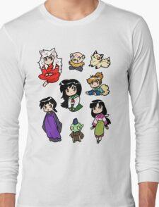 Inuyasha Sticker Set Long Sleeve T-Shirt