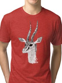 Animal Drawing - Antelope  Tri-blend T-Shirt