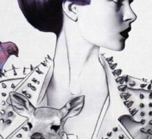 Woman with Animals  Sticker
