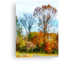 Tall Autumn Trees Canvas Print