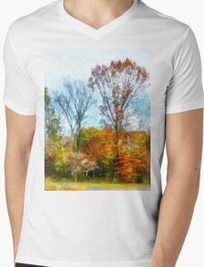 Tall Autumn Trees Mens V-Neck T-Shirt