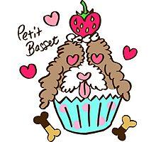 Petit Basset Cupcake Photographic Print