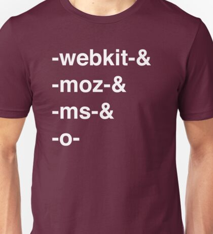 Web Browser Prefixing Unisex T-Shirt