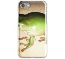 Green Tree Frog 'the Hulk'  iPhone Case/Skin