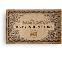 A Part of a Neverending Story Canvas Print