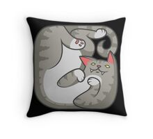 Square tabby cat Throw Pillow