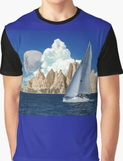 Sailing With The Moon Graphic T-Shirt