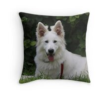 Puppy love to keep you company Throw Pillow
