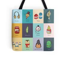 Collection of punny doodles Tote Bag