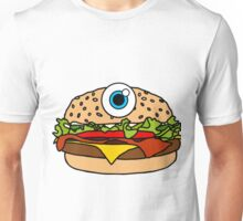 Cyclops Burger Pattern Yellow Unisex T-Shirt