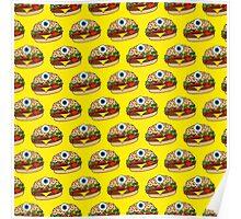 Cyclops Burger Pattern Yellow Poster