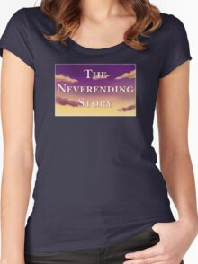 The Neverending Story Clouds Women's Fitted Scoop T-Shirt