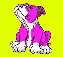 American Bull Terrier Puppy Pink  by Sookiesooker