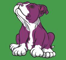 American Bull Terrier Puppy Pink  Baby Tee