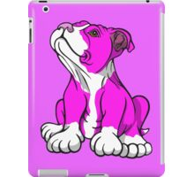 American Bull Terrier Puppy Pink  iPad Case/Skin