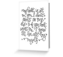 My Heart Is Set On You Greeting Card