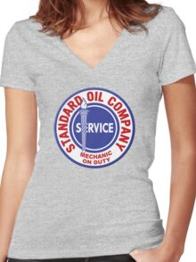 Standard Service Women's Fitted V-Neck T-Shirt