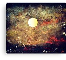 The Moon Over The Sea Canvas Print