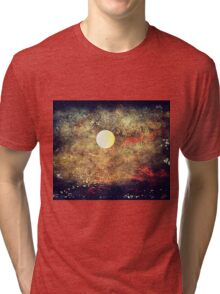 The Moon Over The Sea Tri-blend T-Shirt