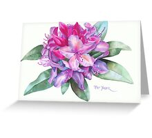 Washington Rhododendron Greeting Card
