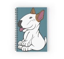 Mini Bull Terrier Lola  Spiral Notebook