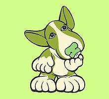 Pondering EBT Cartoon Green by Sookiesooker