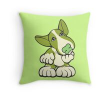 Pondering EBT Cartoon Green Throw Pillow