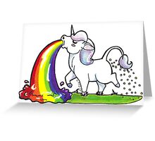 Spewnicorn Greeting Card