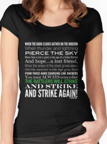 Green Strike Collection by Graphic Snob® Women's Fitted Scoop T-Shirt