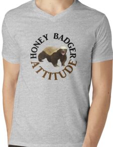 Honey Badger Attitude Mens V-Neck T-Shirt