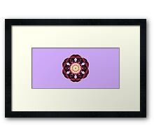 Flower in Abstract Framed Print