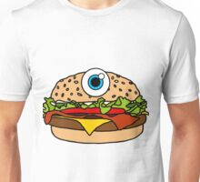 Cyclops Burger Pattern Green Unisex T-Shirt