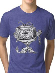 Ill-mannered Fish TV! Tri-blend T-Shirt