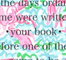 Lilly Pulitzer Bible Quote Sticker