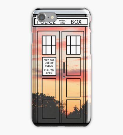 Sunset TARDIS iPhone Case/Skin