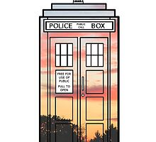 Sunset TARDIS by peerrrrii