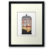 Sunset TARDIS Framed Print