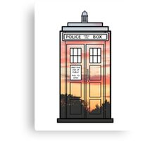 Sunset TARDIS Canvas Print