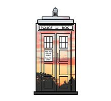 Sunset TARDIS Photographic Print