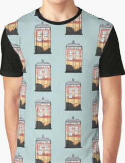 Sunset TARDIS Graphic T-Shirt