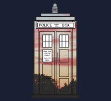 Sunset TARDIS Kids Clothes