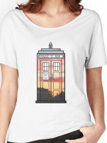 Sunset TARDIS Women's Relaxed Fit T-Shirt