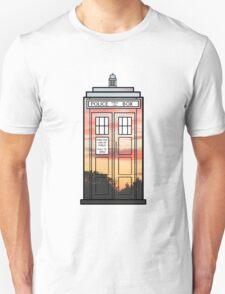 Sunset TARDIS T-Shirt