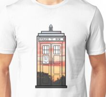 Sunset TARDIS Unisex T-Shirt