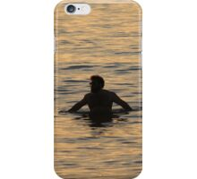 Swimming Silhouette iPhone Case/Skin