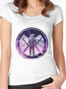 Lightning Lincoln in SHIELD Logo Women's Fitted Scoop T-Shirt