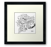 Edition #10 - Signature Automatic Drawing Framed Print