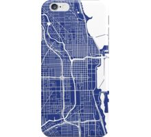 Chicago Map - French Blue iPhone Case/Skin