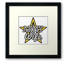 Army Wife Framed Print