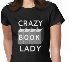 Crazy Book Lady Womens Fitted T-Shirt
